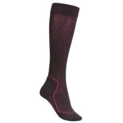 Icebreaker Ski Lite Socks - Merino Wool, Over-the-Calf (For Women) in Snowflake Bone