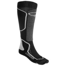 Icebreaker Ski Mid Socks - Merino Wool, Over-the-Calf, Midweight (For Men) in Black/Charcoal - 2nds