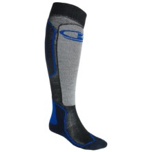 Icebreaker Ski Mid Socks - Merino Wool, Over-the-Calf, Midweight (For Men) in Bone/Cadet/Admiral - 2nds