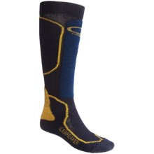 Icebreaker Ski Mid Socks - Merino Wool, Over-the-Calf, Midweight (For Men) in Navy/Blue - 2nds