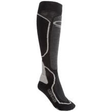 Icebreaker Ski Midweight Socks - Merino Wool, Over-the-Calf (For Women) in Black/Charcoal - 2nds