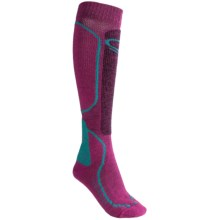 Icebreaker Ski Midweight Socks - Merino Wool, Over-the-Calf (For Women) in Cranberry - 2nds