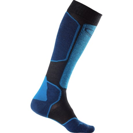 Icebreaker Ski+ Lite Socks - Merino Wool, Over-the-Calf, Lightweight (For Men) in Black/Largo/Force