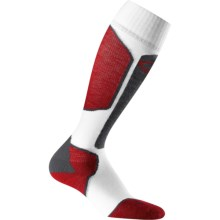 Icebreaker Ski+ Lite Socks - Merino Wool, Over-the-Calf, Lightweight (For Men) in Monsoon/White/Red - 2nds