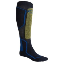 Icebreaker Ski+ Mid Socks - Merino Wool, Over-the-Calf (For Men) in Admiral/Volt/Cob - Closeouts
