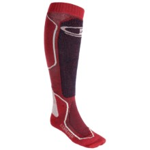 Icebreaker Ski+ Mid Socks - Merino Wool, Over-the-Calf (For Men) in Salsa/Bone/Ink - Closeouts