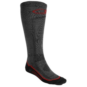 Icebreaker Ski Ultralite Socks - Merino Wool, Over-the-Calf, Lightweight (For Men) in Dark Grey/Black