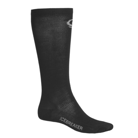 Icebreaker Skiing Liner Socks - Merino Wool (For Men and Women) in Black