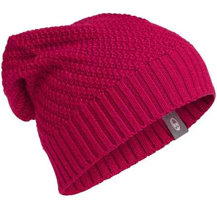 Icebreaker Skyline Beanie - UPF 20+, Merino Wool (For Men and Women) in Raspberry - Closeouts
