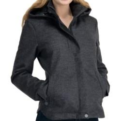 Icebreaker Skyline Jacket - UPF 50+, Merino Wool, Hooded (For Women) in Oxide Heather