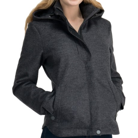 Icebreaker Skyline Jacket - UPF 50+, Merino Wool, Hooded (For Women) in Oxide Heather