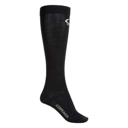 Icebreaker Snow Liner Socks - Merino Wool, Over the Calf (For Women) in Black - Closeouts
