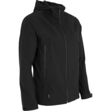 Icebreaker Soft Shell Jacket - Hooded (For Men) in Black - Closeouts
