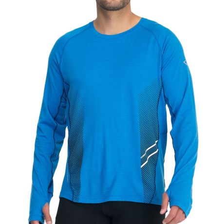Icebreaker Sonic Crew Top - Merino Wool, Long Sleeve (For Men) in Force