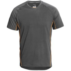Icebreaker Sonic T-Shirt - UPF 40+, Merino Wool, Short Sleeve (For Men) in Monsoon/Koi