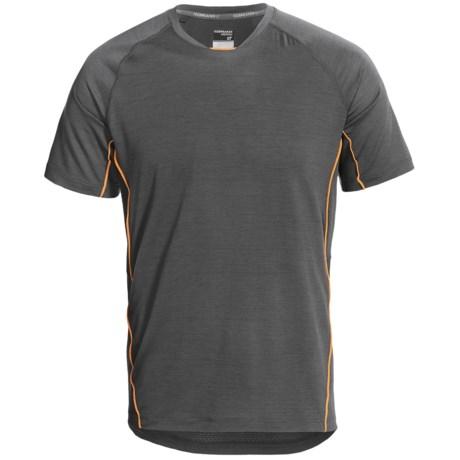 Icebreaker Sonic T-Shirt - UPF 40+, Merino Wool, Short Sleeve (For Men) in Monsoon/Koi