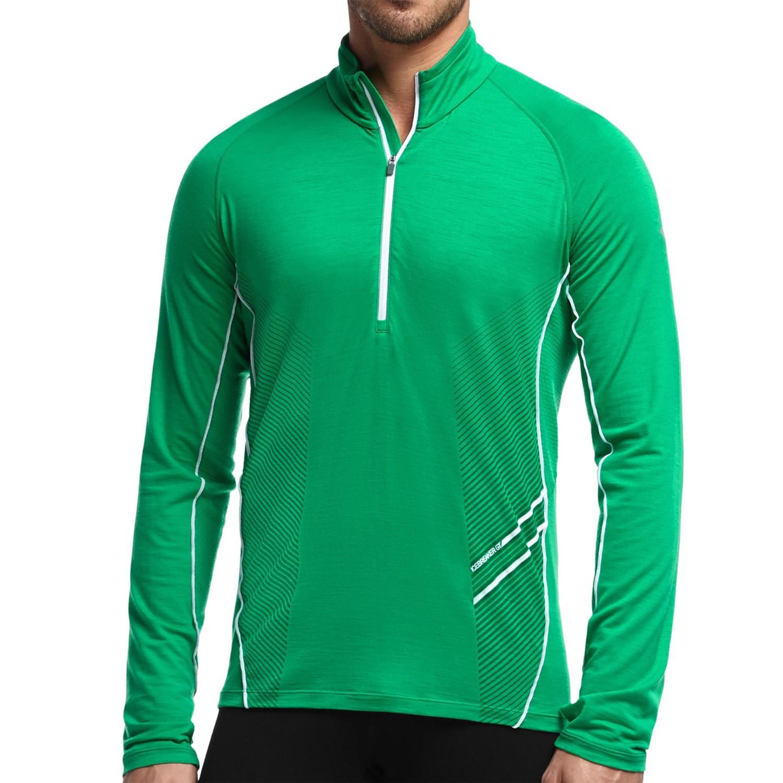 Icebreaker sonic zip neck shirt upf 40 merino wool for Merino wool shirt long sleeve