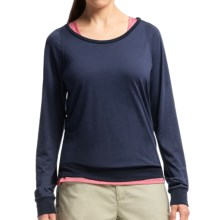 Icebreaker Sphere Shirt - UPF 30+, Merino Wool, Long Sleeve (For Women) in Admiral Heather - Closeouts