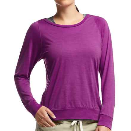 Icebreaker Sphere Shirt - UPF 30+, Merino Wool, Long Sleeve (For Women) in Vivid Heather - Closeouts
