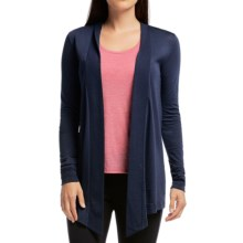 Icebreaker Sphere Wrap Cardigan Sweater - UPF 30+, Merino Wool (For Women) in Admiral Heather - Closeouts
