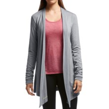 Icebreaker Sphere Wrap Cardigan Sweater - UPF 30+, Merino Wool (For Women) in Mineral Heather - Closeouts