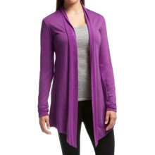 Icebreaker Sphere Wrap Cardigan Sweater - UPF 30+, Merino Wool (For Women) in Vivid Heather - Closeouts