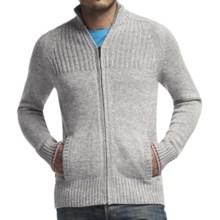 Icebreaker Spire Cardigan Sweater - Merino Wool, Zip Front (For Men) in Metro Heather/Jet Heather/Rocket - Closeouts