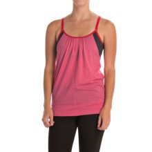 Icebreaker Spirit Tank Top - Merino Wool, UPF 40+, Built-In Bra (For Women) in Shocking/Panther/Garnet - Closeouts