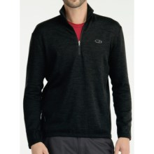 Icebreaker Sport 320 Original Zip Neck Shirt - Merino Wool, Long Sleeve (For Men) in Black - Closeouts