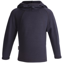 Icebreaker Sport 320 Rascal Hooded Shirt - Merino Wool, Long Sleeve (For Kids) in Java