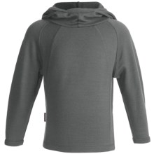 Icebreaker Sport 320 Rascal Hooded Shirt - Merino Wool, Long Sleeve (For Kids) in Sky - Closeouts