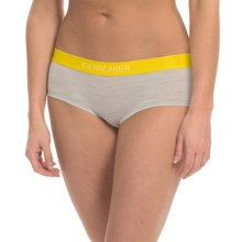 Icebreaker Sprite Stripe Hot Pants Panties - Merino Wool (For Women) in Blizzard Heather/Fuse - Closeouts