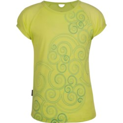 Icebreaker Starlet T-Shirt - UPF 39+, Merino Wool, Short Sleeve (For Girls) in Citrine