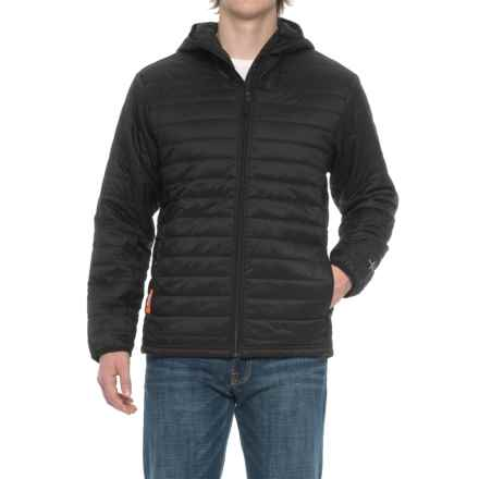 Icebreaker Stratus Hooded Jacket - Insulated (For Men) in Black/Black/Black - Closeouts