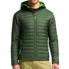 Icebreaker Stratus Hooded Jacket - Insulated (For Men) in Conifer/Balsam/Conifer - Closeouts