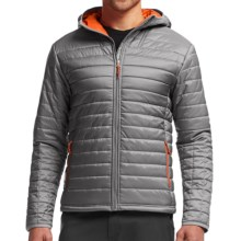 Icebreaker Stratus Hooded Jacket - Insulated (For Men) in Fossil/Spark/Fossil - Closeouts