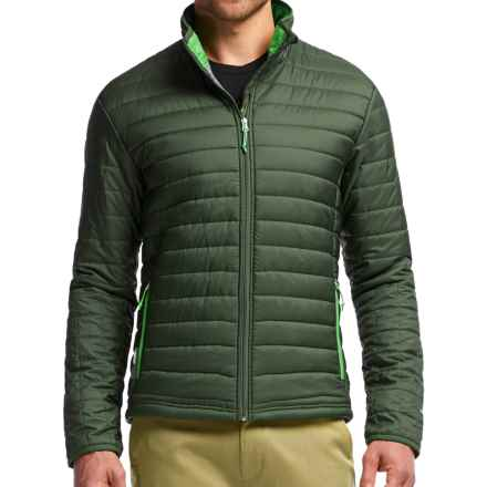 Icebreaker Stratus Zip Jacket - Insulated (For Men) in Conifer/Balsam/Balsam - Closeouts