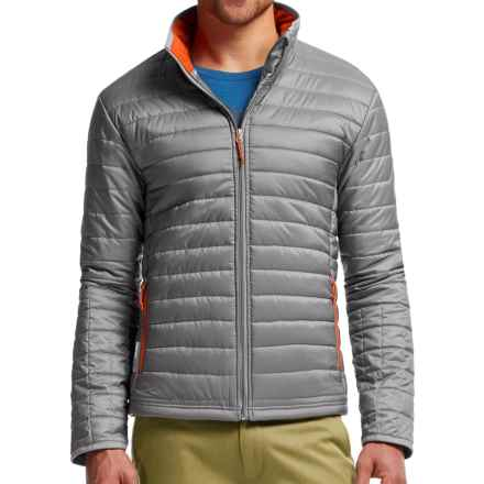Icebreaker Stratus Zip Jacket - Insulated (For Men) in Fossil/Spark/Spark - Closeouts