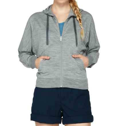 Icebreaker Sublime Hoodie - Merino Wool, UPF 20+, Full Zip (For Women) in Metro Heather - Closeouts