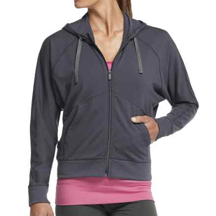Icebreaker Sublime Hoodie - Merino Wool, UPF 20+, Full Zip (For Women) in Panther - Closeouts
