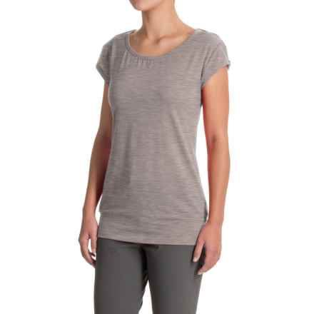 Icebreaker Sublime T-Shirt - Merino Wool, Short Sleeve (For Women) in Metro Hthr - Closeouts