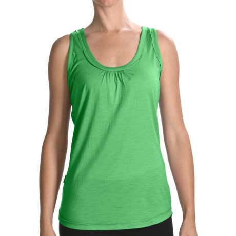 Icebreaker Superfine 150 Retreat Tank Top - Merino Wool (For Women) in Citrine