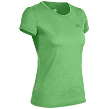 Icebreaker Superfine 150 Tech T-Lite T-Shirt - Merino Wool, Short Sleeve (For Women) in Sprout - Closeouts