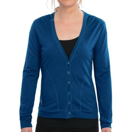 Icebreaker Superfine 200 Bliss Cardigan Sweater - Merino Wool (For Women) in Isle
