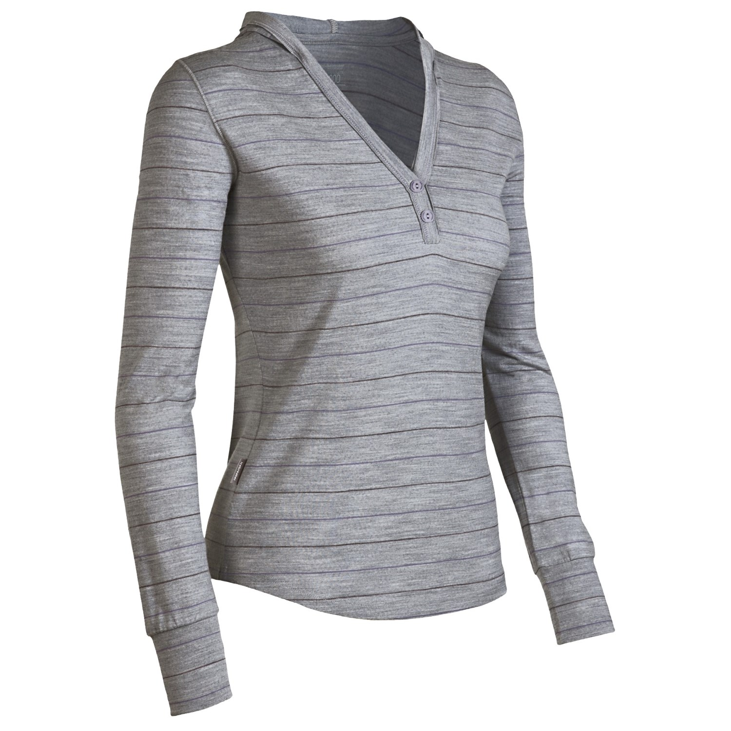 Icebreaker superfine 200 bliss hooded shirt merino wool for Merino wool shirt womens