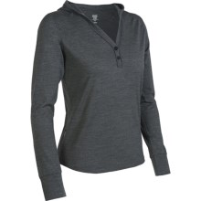 Icebreaker Superfine 200 Bliss Hooded Shirt - Merino Wool, Long Sleeve (For Women) in Jet - Closeouts