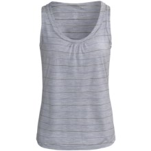 Icebreaker Superfine 200 Retreat Tank Top - Merino Wool, Sleeveless (For Women) in Blizzard Stripe - Closeouts