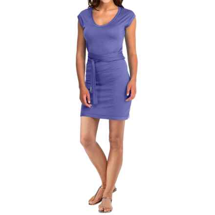 Icebreaker Superfine 200 Villa Dress - Merino Wool, V-Neck, Short Sleeve (For Women) in Abyss - Closeouts