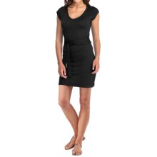 Icebreaker Superfine 200 Villa Dress - Merino Wool, V-Neck, Short Sleeve (For Women) in Black - Closeouts