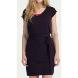 Icebreaker Superfine 200 Villa Dress - Merino Wool, V-Neck, Short Sleeve (For Women) in Eden